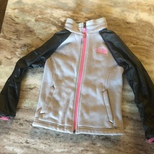 The North face pink and Gray girl sweater 5T
